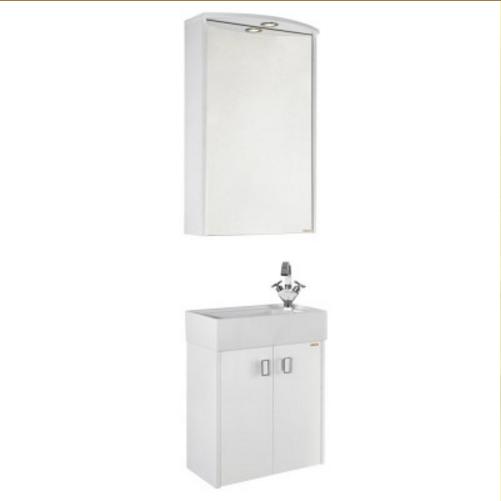 Мебель для ванной Vod-ok Твист 50 (белый, белый/ясень)