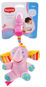 "Tiny Love игрушка-подвеска ""Слонёнок Елис"" вибрирующая, с шуршащими ушками"