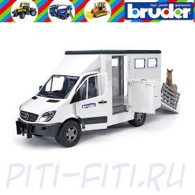 "Bruder. Фургон ""MB Sprinter"" с лошадью"
