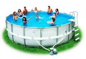 Каркасный бассейн 488х122см + аксессуары, INTEX
