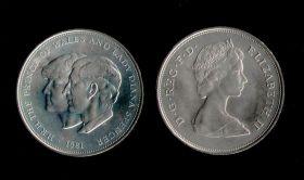 Великобритания 25 пенсов 1981 Свадьба Чарльза и Дианы. Кроновая, большая монета