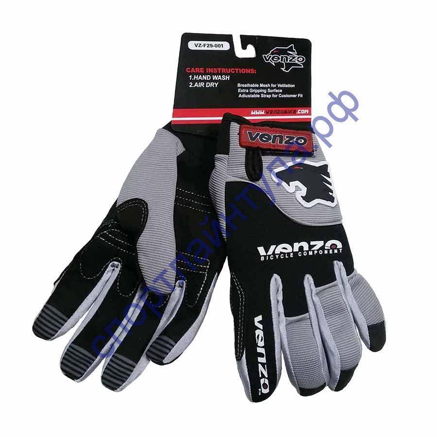 Перчатки велосипедные VENZO VZ-F29-001 полный палец