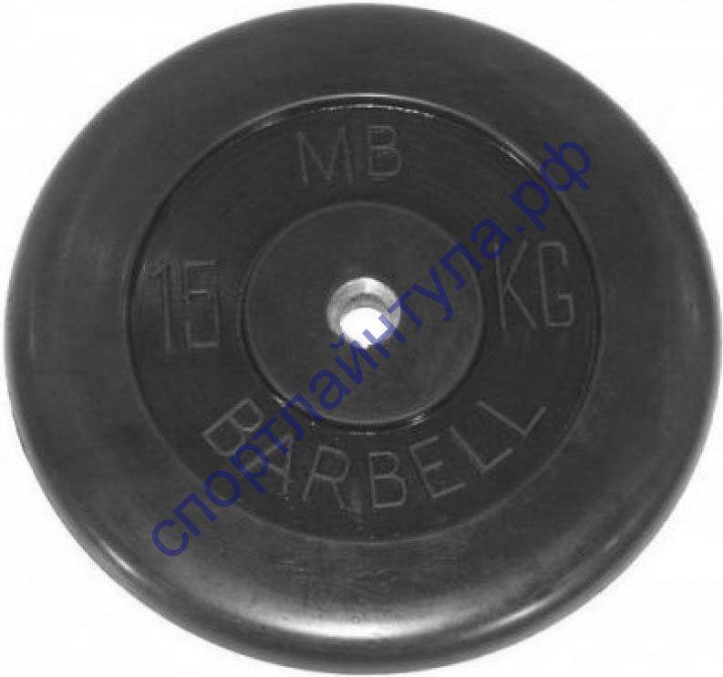 Диск обрезиненный 15 кг d-26 мм