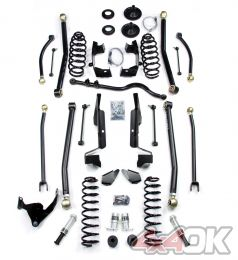 "JK 2 Door 4"" Elite LCG Long FlexArm Lift Kit w/ SpeedBumps"