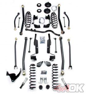 "JK 2 Door 4"" Elite LCG Long FlexArm Lift Kit w/ SpeedBumps"