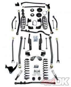 "JK 2 Door 6"" Elite LCG Long FlexArm Lift Kit w/ SpeedBumps"
