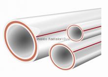 Армированная ППР полипропиленовая труба d50*5,5 (алюминий) PN25 - 1 метр