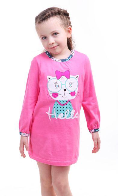 Сорочка для девочки Добрая кошка