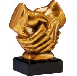 Статуэтка Рукопожатие высотой 17 см. с мраморным цоколем