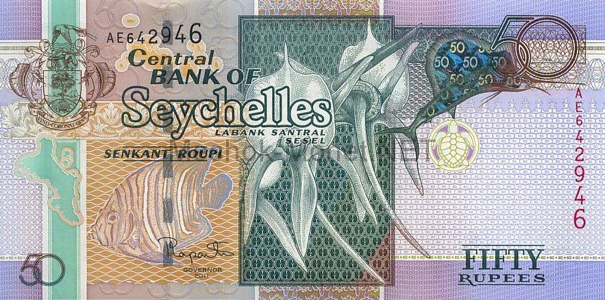 Банкнота Сейшельские острова 50 рупий 2011 г