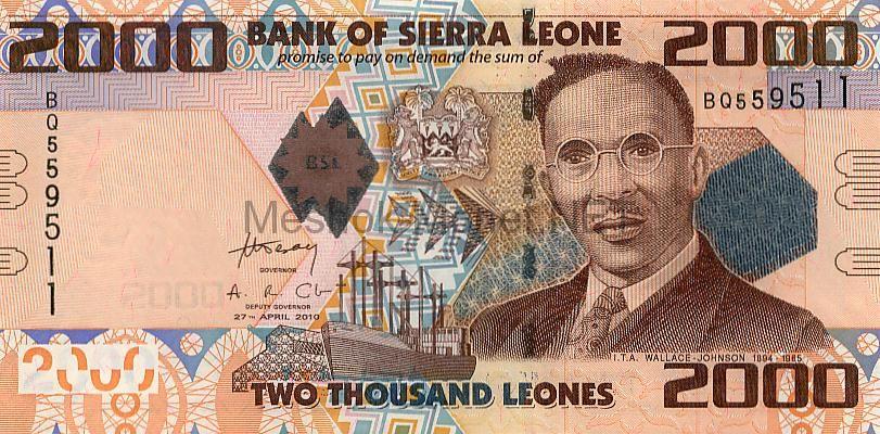Банкнота Сьерра-Леоне 2.000 леоне 2002-06г