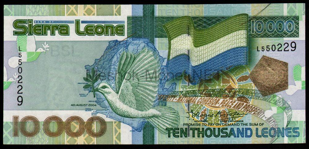 Банкнота Сьерра-Леоне 10000 леоне 2004 год