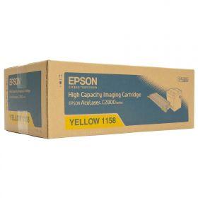 C13S051158  Тонер-картридж  оригинальный  EPSON желтый повышенной емкости для AcuLaser C2800
