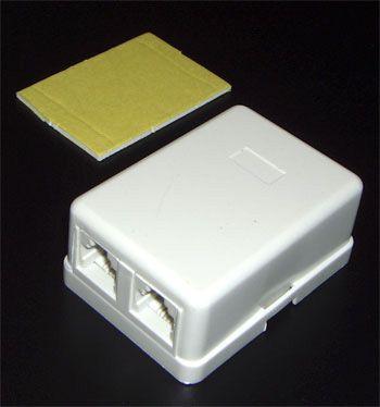 Телефонная розетка евро 2 гнезда 2 линии 6p4c T-7027-6p4c