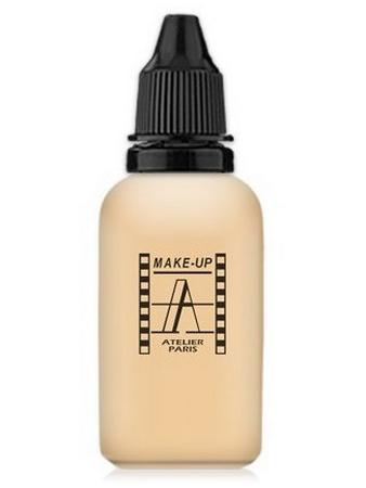 Make-Up Atelier Paris HD Fluid Foundation Gilded AIR1Y Yellow clear Тон-флюид водостойкий для аэрографа 1Y ваниль (бледно-золотистый)