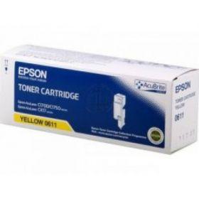 C13S050611  Тонер-картридж  оригинальный  EPSON желтый для AcuLaser C1700/C1750/CX17