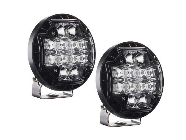 Круглая светодиодная фара Rigid Industries R-46 Серия (12 светодиодов)  Комбинированный свет (Ближний/Дальний), комплект 2 шт.