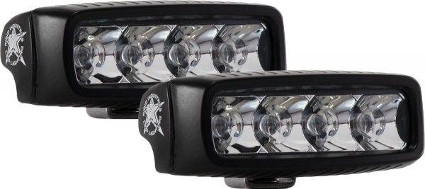 Однорядная светодиодная фара Rigid Industries SRQ (4 диода) - Дальний свет  комплект 2 шт. - Янтарный