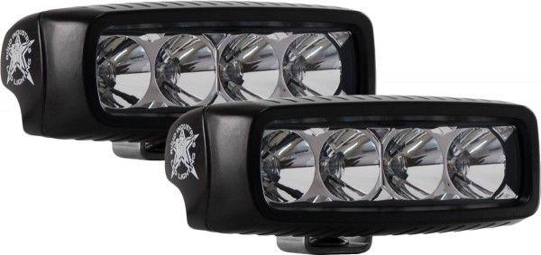 Однорядная светодиодная фара Rigid Industries SRQ (4 диода) - Ближний свет  комплект 2 шт. - Янтарный