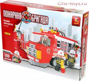 Конструктор Пожарная бригада 309 деталей Ausini 21601