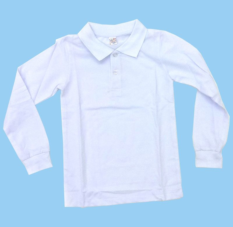 Белый джемепер-поло для мальчика