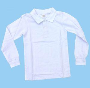 Белый джемпер поло для мальчика