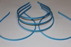Ободок металл обтянутый тканью 5 мм, цвет: светло-синий (1уп = 12шт)