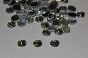 Стразы круглые, граненные, 12 мм, цвет № 01 прозрачный (1 уп = 100 шт)