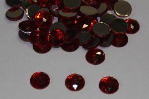 Стразы круглые, граненные, 12 мм, цвет № 06 красный (1 уп = 100 шт)