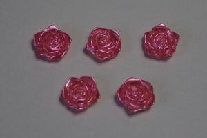 "Кабошон ""Розочка"", диаметр 18 мм, цвет ярко-розовый (1 уп = 50 шт)"