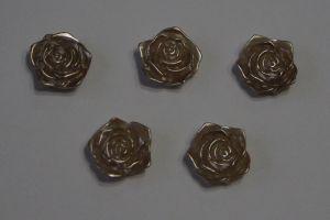 "Кабошон ""Розочка"", диаметр 18 мм, цвет коричневый (1 уп = 50 шт)"