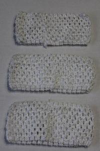 Повязка ажурная, 70 мм, цвет №01 белый (1 уп = 12 шт), Арт. ПВ0034