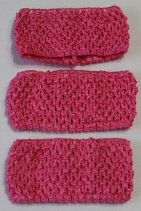 Повязка ажурная, 70 мм, цвет №09 ярко-розовый (1 уп = 12 шт), Арт. ПВ0038