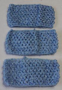 Повязка ажурная, 70 мм, цвет №24 светло-синий (1 уп = 12 шт), Арт. ПВ0041
