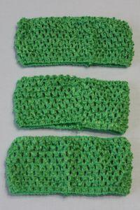 Повязка ажурная, 70 мм, цвет №30 зеленый (1 уп = 12 шт)