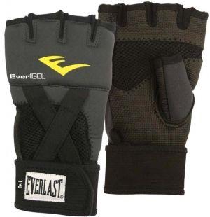 Перчатки боксерские Everlast гелевые Evergel, размер М, чёрные, артикул 4355BМU