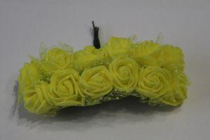 `Цветы из фоамирана с органзой, 25 мм, 11-12 цветков, цвет: желтый
