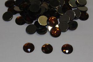 `Стразы круглые, граненные, 12 мм, цвет № 13 коричневый (1 уп = 10 шт)