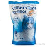 """Сибирская кошка """"Элита"""" Впитывающий силикагелевый наполнитель (синий) (4 л)"""