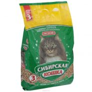 """Сибирская кошка """"Лесной"""" Впитывающий древесный наполнитель (3 л)"""