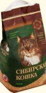 """Сибирская кошка """"Лесной"""" Впитывающий древесный наполнитель (10 л)"""