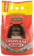 """Сибирская кошка """"Экстра"""" Впитывающий наполнитель для длинношерстных кошек (5 л)"""