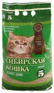 """Сибирская кошка """"Лесной для котят"""" Впитывающий древесный наполнитель (5 л)"""