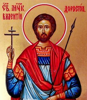 Валентин Доростольский (рукописная икона)