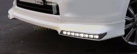 Аэродинамическая накладка на передний бампер губа для Toyota Land Cruiser Prado 150 2013-