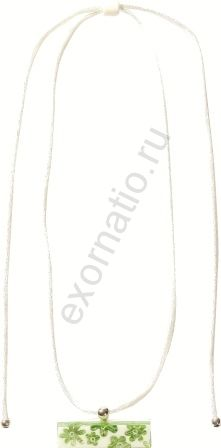 Колье Zsiska7110201SWGRQ00. Коллекция MEADOW бело-зелёное