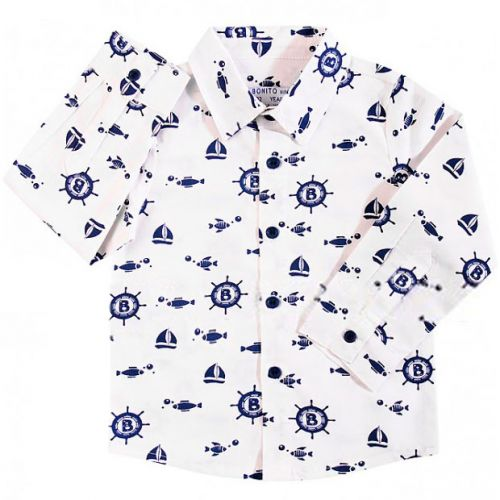 "Рубашка ""Bonito"" детская 6-9 лет BK377R"