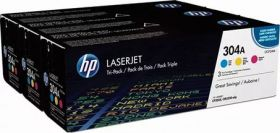 CF372AM  Картридж  оригинальный  HP 304A CYM Tri-Pack LaserJet Toner Cartridge