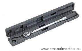 Динамометрический трещоточный ключ (гаечный) с флажковым реверсом, 485-510 мм  в футляре HEYCO 50885