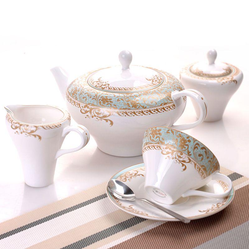 """Чайный сервиз на 6 персон """"Фонтенбло"""", 15 пр., 200мл"""